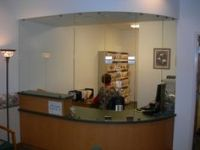 Receptionist Sliding Windows With Stationary Panel ...