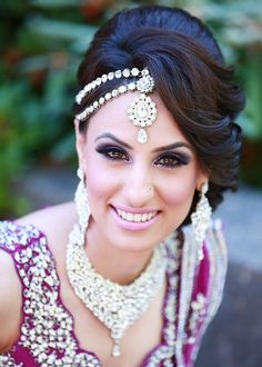 Indian Wedding Hairstyle Ideas For Medium Length Hair Wedding