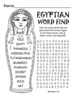 Great printable colouring sheets for Ancient Egypt unit