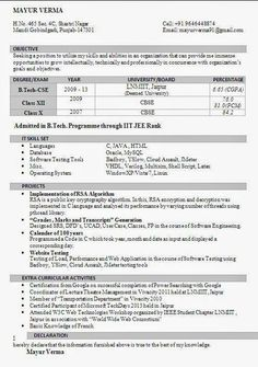 1000 Images About Resume On Pinterest Latex Curriculum