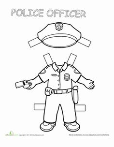 Police officer, Community helpers and Worksheets on Pinterest
