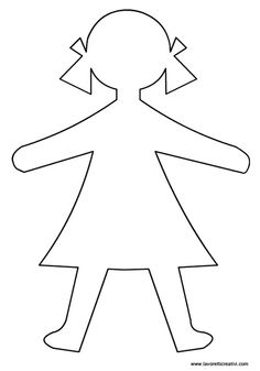 Girl pattern. Use the printable outline for crafts