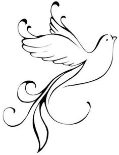 Holy Spirit Dove Drawing holy spirit tattoo on pinterest