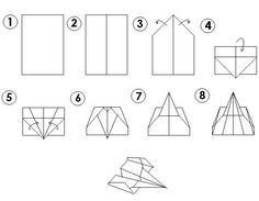 instructions on how to make paper airplanes that fly far