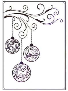 christmas card drawing drawings simple cards doodles window easy baubles zentangle holiday draw coloring crafts embossing designs ornaments folder pergamano