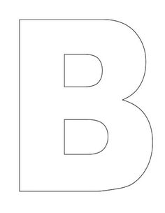 Letter I pattern. Use the printable outline for crafts