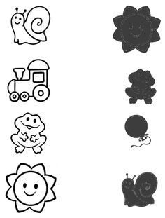 Matching Animals to their Shadows, 2 worksheets; visual