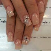 classic cream color nails