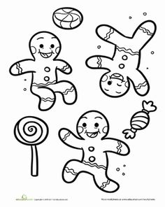 Christmas Gingerbread Man Applique Machine Embroidery