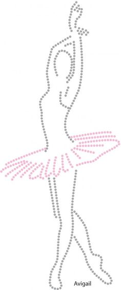 Ballerina pattern. Use the printable outline for crafts