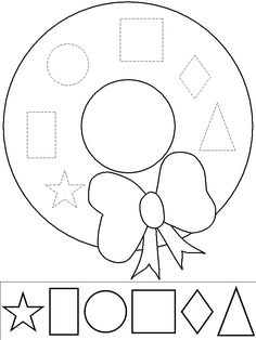 printable 3d shapes work sheet/ cuting and gluing
