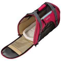 the comfort carrier line features well ventilated sides convenient pockets a washable fleece bed and