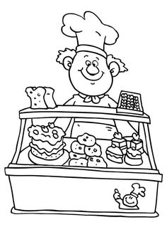Coloring, Birthday cakes and Coloring pages for kids on