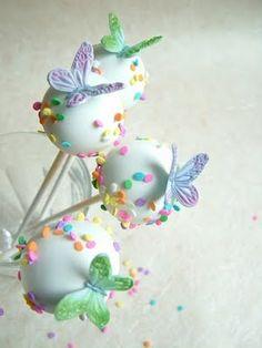 Cake Pop Pastel Bouquet With Fondant Flowers Bouquets