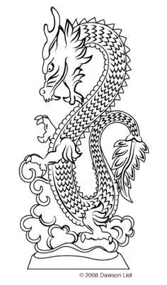 Scroll Saw Patterns :: Mythical :: Dragons :: Chinese