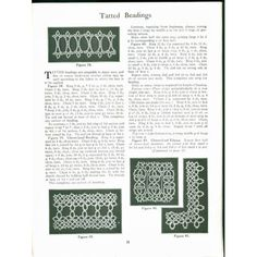 Tatting, Tatting patterns and 1940s on Pinterest