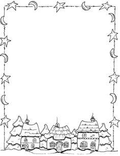 Printable black and white Thanksgiving border. Use the