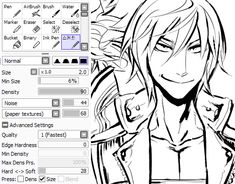 1000+ images about ART: Paint Tool Sai Brush Settings on