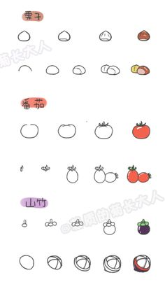 How to draw a variety of fruits 2, chrysanthemum people