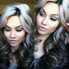 Grey Highlights On Black Hair Google Search Rose Pinterest