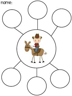 Cowboy or Cowgirl color by number page from Making