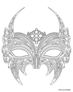 MASKS coloring pages : 9 online printable masks templates