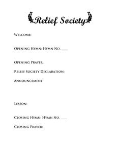 Organize groups of women in Relief Society who have common