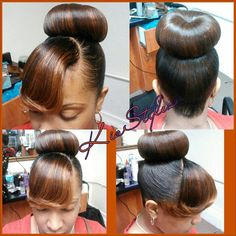 Toya Carter High Bun With Swoop Bangs Hairstyles Of Today