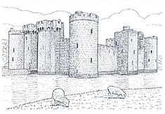 Warwick Castle This site has drawings and photos of