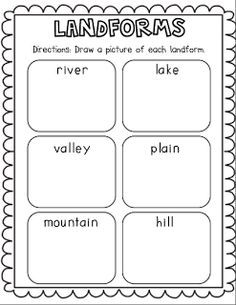 Geographical Features Foldable FREEBIE!! Includes