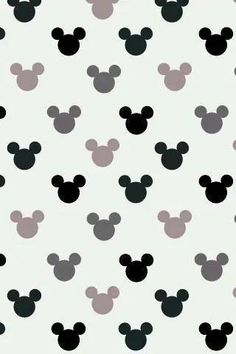 Wallpapers Mickey Mouse Ears Cute Sweet Pattern Print Phone