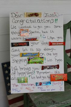 1000 Images About Candy Cards On Pinterest Candy Bars