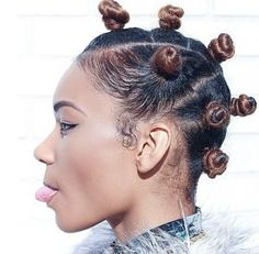 Black Hair Bantu Knots Hairstyles My DIY Ventures Pinterest