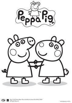 Peppa pig coloring pages for kids, printable free