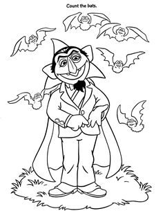 Super Grover, the superhero of Sesame Street coloring page
