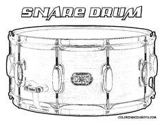 Cool Musical Instruments Coloring Pages on Pinterest