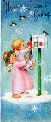 1000 Images About Vintage Christmas Cards On Pinterest