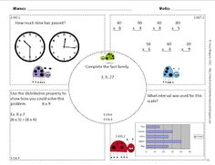 (3.G.2) 3rd Grade Common Core Math Worksheets- Partition