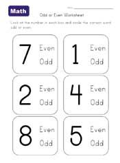 Odd and Even Numerals and Counters. Free download with