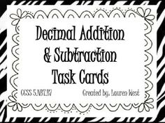 Adding and Subtracting With Decimals Worksheets This