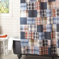 Madras Shower Curtain Pottery Barn Kids Wade's Room And
