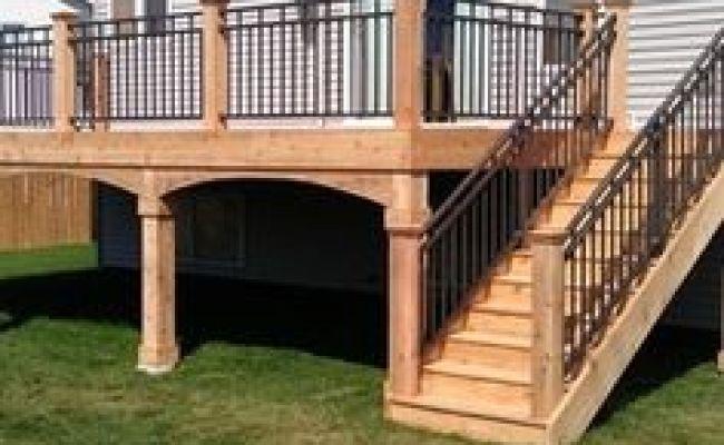 Deck Railing Corner Posts Deck Pinterest Deck