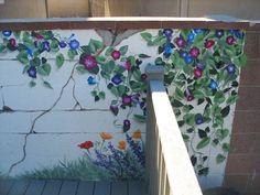 Wooden Fence Mural Kat Henolson Feel Like Helping Me Paint