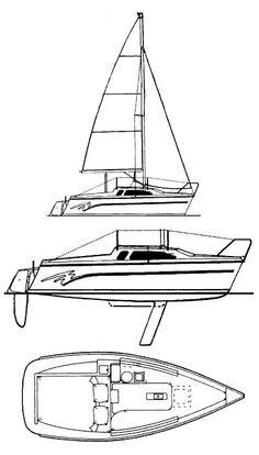 1988 Catalina Capri 18 sailboat provisions storage plan