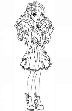 Ever After High coloring pages to download and print for