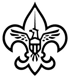 Black and white large size downloadable scout clipart