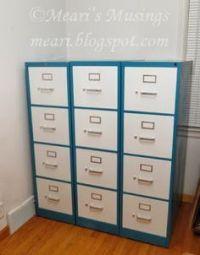 Filing Cabinet Redo on Pinterest   Filing Cabinets, Metal ...