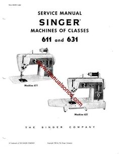 Timing and Adjustment manual for a Singer 20U sewing