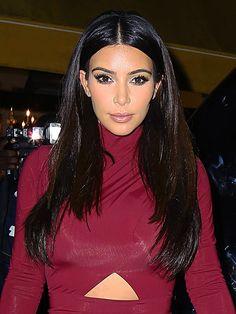 Kim Kardashian's Sleek & Straight Hair In New York — How To Kim