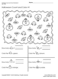 Spider, Printable worksheets and Worksheets on Pinterest